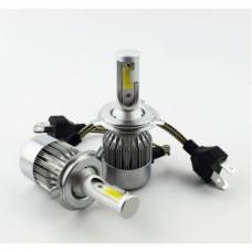 H4 LED izzó – H4 Xenon szett  - Trafó nélkül működő, 6000K, 36W LED-Xenon hybrid