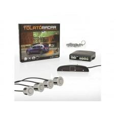 Golden Eye 2616 LED tolatóradar, tolató radar, PDC, tolatást segítő, parkolósegéd (4 db ezüst színű szenzorral)