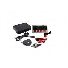 Golden Eye 2605 hangszórós tolatóradar, tolató radar, PDC, tolatást segítő, parkolósegéd piros színű (piros színű szenzorokkal)