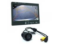 """Tolatókamera monitorral - 7"""" monitor, távirányító, Teljes Szett!"""