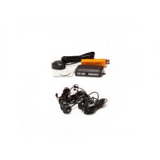 Hangszórós tolatóradar, tolató radar, PDC, tolatást segítő, parkolósegéd,  4 szenzorral - fekete