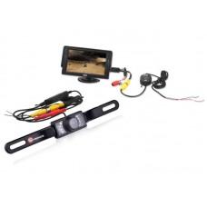 Univerzális tolatókamera szett, professzionális minőségű, vezetéknélküli (wireless), vízálló, éjjellátó, 170 fokos látószögű