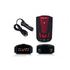 A V7 radar-lézer detektor, traffipax jelző, radar jelző piros színben (legálisan használható)