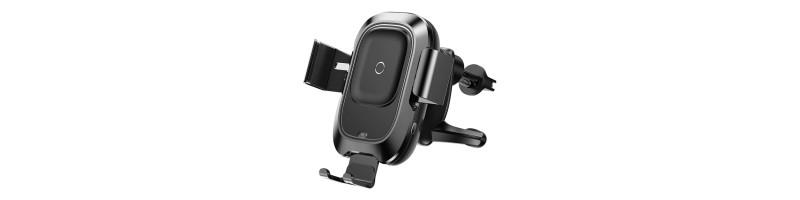 Szellőzőrácsra szerelhető, automata, önműködő, vezeték nélküli QI autós töltő iPhone 8 / 8 Plus / XR / XS / XS MAX / X stb. készülékekhez