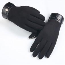 1 pár okoskesztyű, kapacitív kesztyű, téli kesztyű iPad, iPhone stb. készülékekhez fekete színben