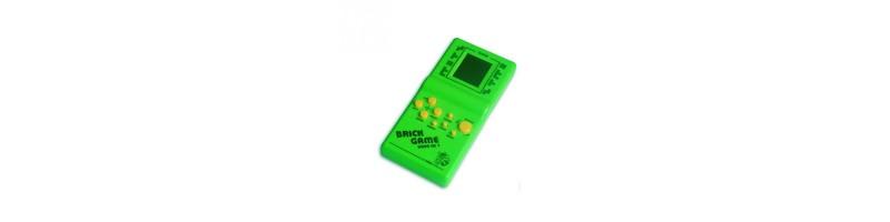 Klasszikus tetris játék zöld színben
