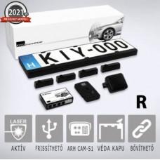 KIYO ULTIMATE AP 4R GPS RADAR: rendszámkeretbe építhető 4 db lézerszenzort tartalmazó lézerblokkoló, traffipax zavaró, traffipax blokkoló, dupla kerettel, GPS adatbázissal és Radarmodullal