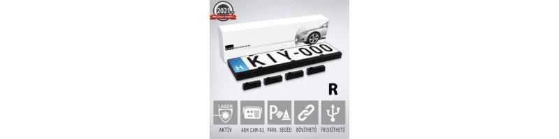 KIYO D Ultimate AP 4R: rendszámkeretbe építhető 4 db szenzort tartalmazó lézerblokkoló, traffipax zavaró, traffipax blokkoló, dupla kerettel
