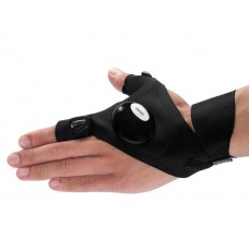 1 db ujj nélküli, mágikus, LED-es kesztyű balos