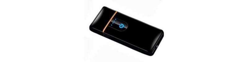 dd4684826c Érintős, USB-s cigaretta öngyújtó, vihargyújtó fekete színben