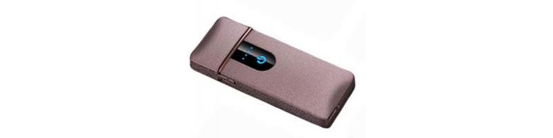 Érintős, USB-s cigaretta öngyújtó, vihargyújtó rose színben