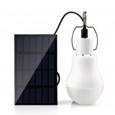 15W 130LM Napelemes, újratölthető, hordozható LED lámpa, izzó