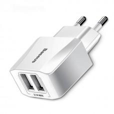 Baseus 5V 2.1A Dual USB töltő MEIZU, LG, Xiaomi, TZY, ZTE, Nokia, Sony, Motorola, Blackberry, Samsung, HTC, Lenovo, Huawei, Apple iPhone stb.