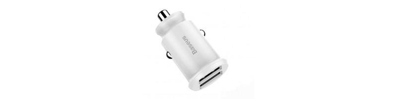 Baseus Mini 2 USB DUAL autós töltő 3.1A fehér színben