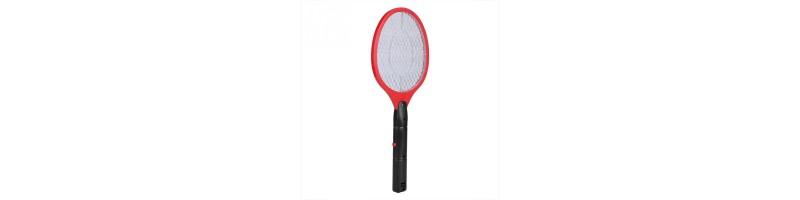 Háztartási, elektromos rovar, szúnyog, légycsapó piros színben