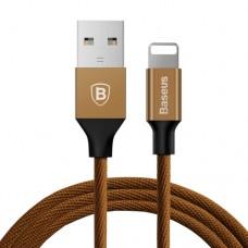 Baseus USB kábel, töltőkábel, gyorstöltés funkció iPhone 11/11 PRO MAX/XS Max/XR/X/8/8 Plus/7/7 Plus/6S/6/5S/5/iPad/iPad Air 2/mini 2/3/4 Pro/iPod Touch 5/6/Nano 6/5 5m kávé színben