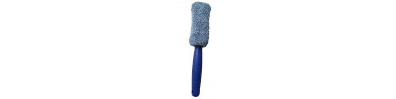 Univerzális, hordozható mikroszálas kerékmosó kefe kék színben