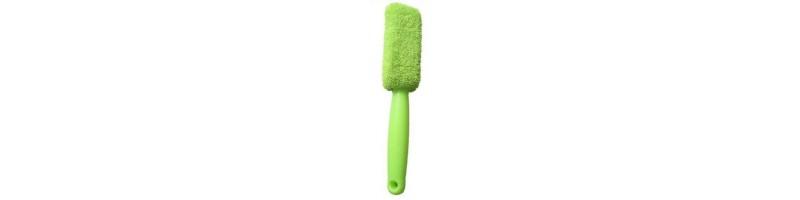 Univerzális, hordozható mikroszálas kerékmosó kefe zöld színben