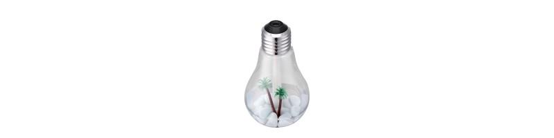 Kreatív, LED villanykörte alakú párásító, légfrissítő ezüst színben