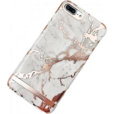 TRB ultravékony, márvány mintás iPhone 7 Plus tok fehér színben