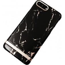 TRB ultravékony, márvány mintás iPhone 7 Plus tok fekete színben