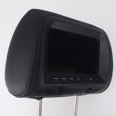 "7"" fejtámla DVD monitor(barna) -  LCD, távirányítható, bőr autós monitor"