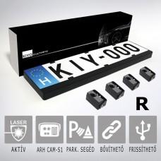 KIYO lézerblokkoló - A KIYO D Ultimate 4R rendszámtábla keretes aktív lézeres jelzőkészülék 4 szenzorral