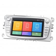 """2 din multimédia fejegység GPS – 7"""" - Android 2 din fejegység (Ford Focus 2, Mondeo, Galaxy, S-MAX, Connect autókba) ezüst színben"""