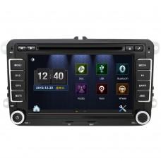 """7"""", (színes) multimédiás, multimédia 2 din fejegység, (Bluetooth, Rádió, IGO térkép, 4GB memóriakártya - VW Golf, Polo, Jetta, Touran, MK5, MK6, Passat, B6 autókba"""
