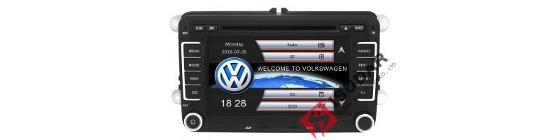 """2 din multimédia fejegység - 7"""" (GPS, Bluetooth, Rádió, Térkép, Wifi, 3G hálózat, Tolatókamera támogatás, DVR támogatás, TPMS támogatás - Volkswagen, Skoda, Seat autókba"""