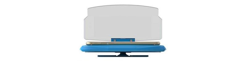 Univerzális szélvédős sebesség kijelző, GPS HUD kijelző okostelefonhoz kék színben