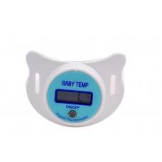 LCD digitális cumis lázmérő fehér-kék színben