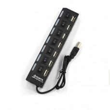 Univerzális, LED visszajelzős, 7 portos USB töltő, asztali töltő, HUB