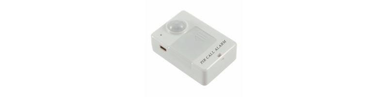 Vezeték nélküli mini PIR mozgásérzékelő, GSM riasztó, EU dugaljal fehér színben