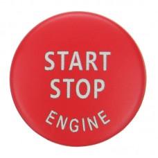Indító gomb, START/STOP gomb dísz, dekor BMW X1, X5, X6, Z4,1, 3, 5, X, E87, E89, E90, E91, E92, E93, E60, E51, E70, E71 piros színben