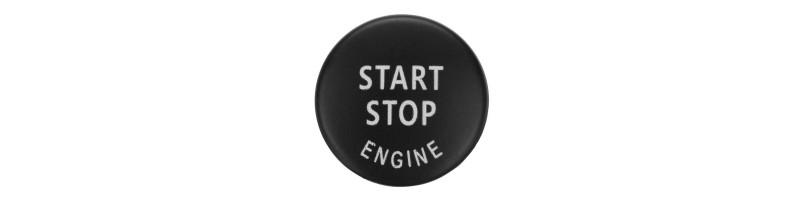 Indító gomb, START/STOP gomb dísz, dekor BMW X1, X5, X6, Z4,1, 3, 5, X, E87, E89, E90, E91, E92, E93, E60, E51, E70, E71 fekete színben