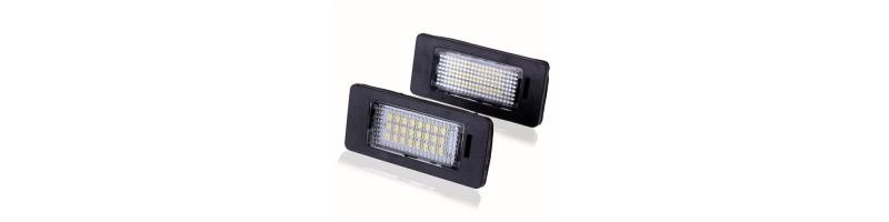 2 db 3528 SMD 24 LED-es engedélyezett autós izzó, rendszámtábla izzó BMW E39 E60 E90 X stb. modellekhez