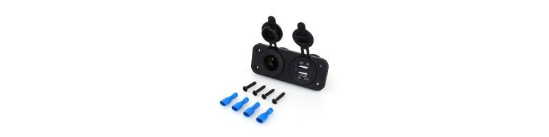 12V USB szivargyújtós töltő motorkerékpárokhoz, autókhoz és tehergépkocsikhoz