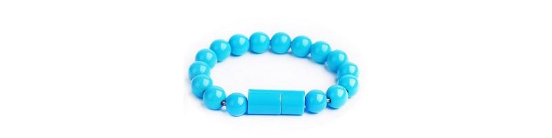 Karkötőként is használható USB 2.0 töltőkábel, töltő kábel C típusú USB telefonokhoz kék színben